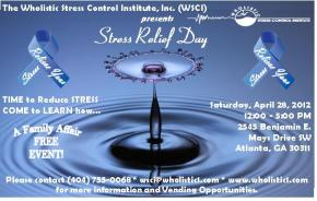 Wholistic Stress Institute- STRESS RELIEF DAY